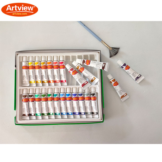 Acrylic Paint Set - 12ml x 24colors